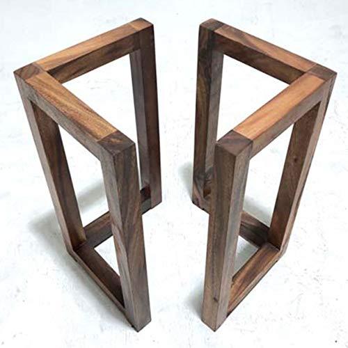 Furniture Legs Möbelfüße Holz Tischkufen V Form Vintage Dekoration Schwerlast Tischbeine 68 cm Hoch, Esstischbeine/Stützbeine Couchtisch, Landhausstil