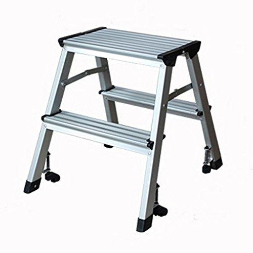 DNSJB Taburete con peldaños, Escalera de Aluminio multifunción, Escalera Engrosada Taburete Taburete Plegable