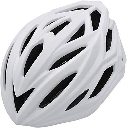 Fietshelm voor buiten, geïntegreerd licht, verstelbare ventilatie, goede uitrusting, mountainbike Wit.