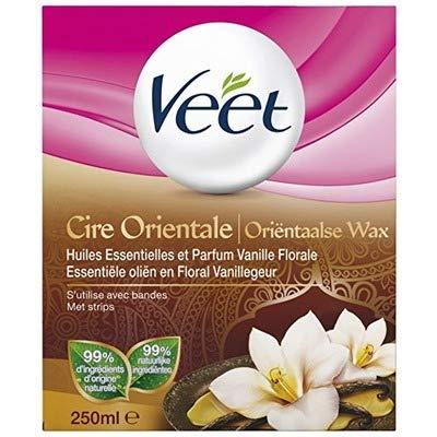 Veet Cire orientale huiles essentielles vanille - Le pot de 250ml