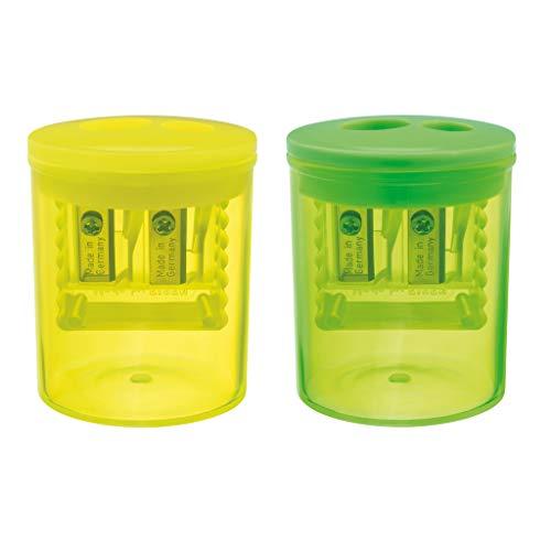 herlitz 50028078 Doppeldosenanspitzer Neon Art, farbig sortiert - keine Farbauswahl möglich!, 1 Stück