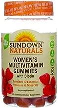 Sundown Naturals Women's Multivitamin with Biotin Gluten-Free Gummies Raspberry Flavor - 60 ct, Pack of 3