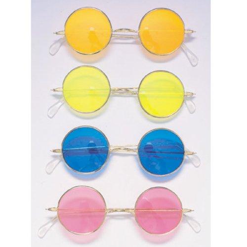 Gafas Hippie Con Cristales De Colores Surtidos (Rubies 1761)