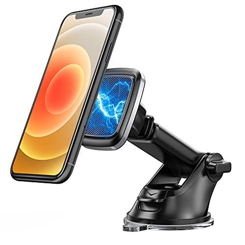 Bovon Porta Cellulare da Auto, Supporto Magnetico Auto Smartphone a 360° con Ventosa e Braccio Estensibile su Cruscotto Parabrezza, Porta Telefono Auto Compatibile con iPhone 12 PRO Max, Samsung,ECC.