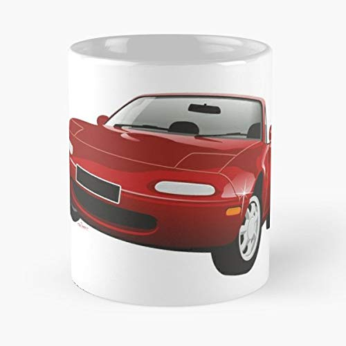 5TheWay Mx Mug Mazda Miata Red Best 11 oz Kaffeebecher - Nespresso Tassen Kaffee Motive