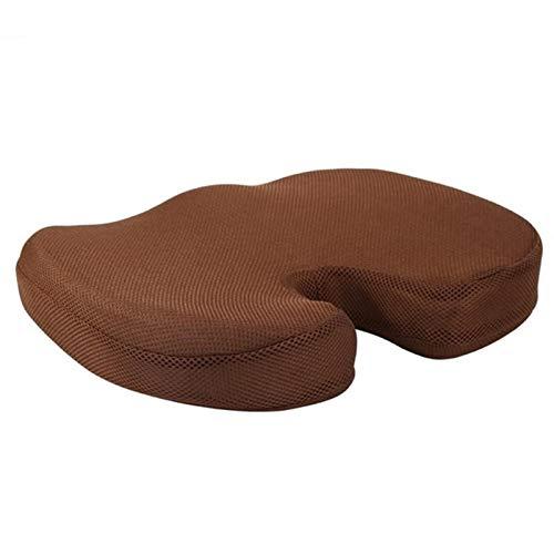 Cojin Hemorroides Viaje del amortiguador de asiento ortopédico de espuma de memoria T asiento de la silla del masaje del cojín del amortiguador Oficina del masaje del coche del amortiguador Textiles f