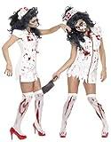 thematys Gruselige Horror Krankenschwester - Kostüm-Set für Damen - perfekt für Halloween,...