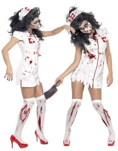 thematys® Espeluznante Enfermera de Horror - Set de Disfraces para Damas Halloween y Carnaval - 3 tamaños Diferentes (XL)