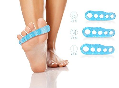 Blissany - Separador de dedos para yoga y pies (relaja, entrena y corrige los dedos de los pies, 1 par)