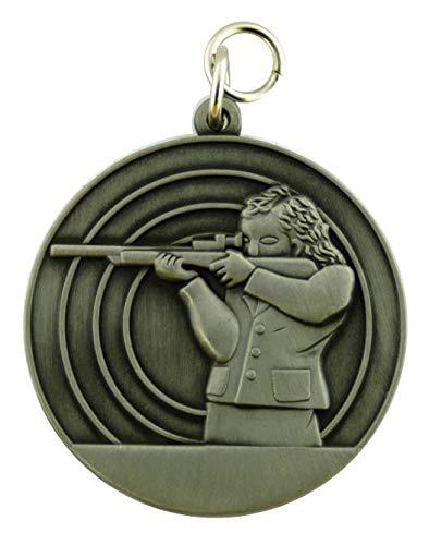 Deitert Schützenmedaille 8 Altsilber