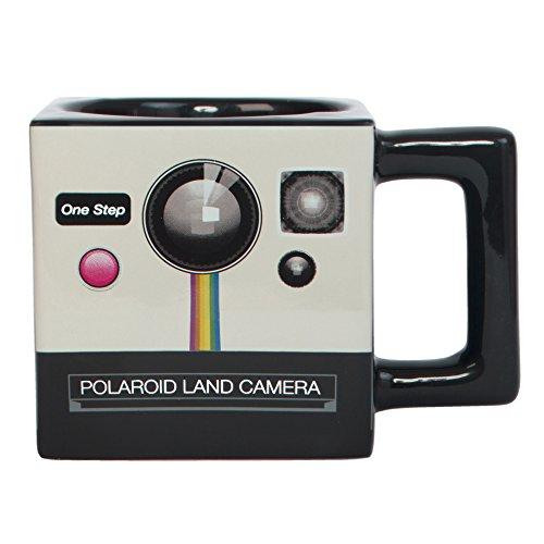 Polaroid Weißer, quadratischer Becher Kamera-Design von Fizz Creations