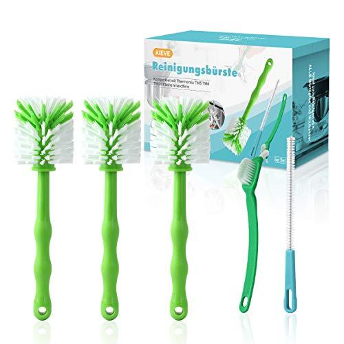 AIEVE 5er Set Bürste Reinigungsbürste Spülbürste Tassenbürste Messerbürste Kompatibel mit Thermomix TM5 TM6 TM31 TM21 Küchenmaschine