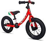 KOOKIDO Balance Bike with Air Tires, Kids Bike Without Pedal, 12 inch Bike for Kids Ages 3-5 (Vibrant Red)