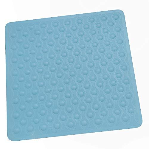 Sanixa PA71139 Duscheinlage Anti-Rutsch Türkis-Blau Naturgummi 54 x 54 | Dusch-Matte Duschmatte Duschwannenmatte rutschfest Saugnäpfen (Türkis-Blau)
