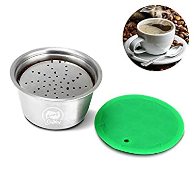 OurLeeme Refillable Coffee Capsule, Stainless Steel Reusable Coffee Filter Cup for Nespresso Dolce Gusto for Fragrant Coffee (Coffee Capsule)