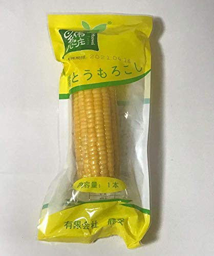黄糯玉米棒 モチとうもろこし 軸付き黄糯玉米 1本