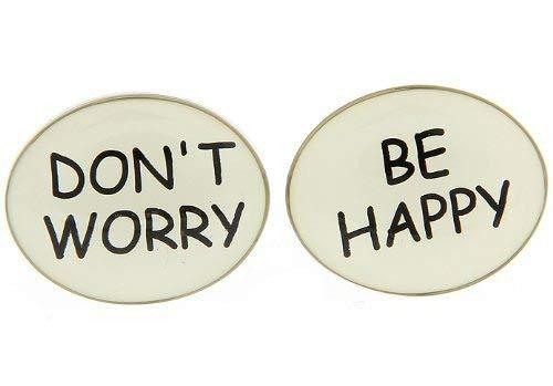 Maak je geen zorgen wees blij manchetknopen met Alfred & Co. manchetknopen doos