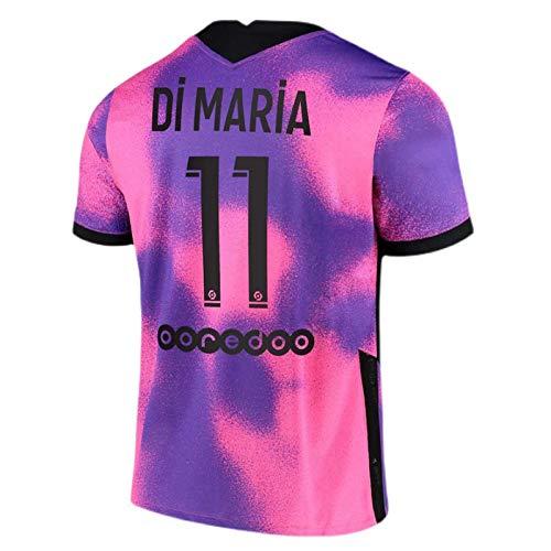 GJMYQ Camisetas de fútbol Jordan Point of View2020 / 21 Home Player Jersey Fans Sudadera, Morado Unisex Niños