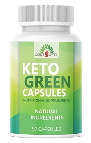 NEU: Adema Natural® - Keto Green Capsules - Ketogen - Stoffwechsel & Hochdosiert - schnell + extrem burn sowie natürlich und vegan - 50 Kapseln
