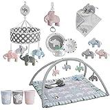 rätt Start diseño de elefante Musical cama funda para bebé de juguete, color gris
