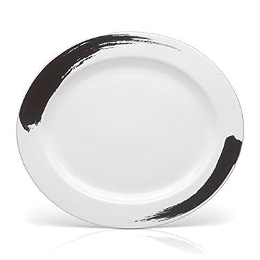 Mikasa Brushstroke Oval Serving Platter, 15-Inch