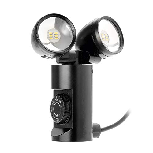 LED Strahler außen – Tolles Ambiente und schöne Lichtakzente in Ihrem Garten – Gartenlampe mit Erdspieß – Dämmerungssensor, Countdown Funktion – Energieeffizienz A+ - 2 Spot