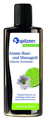 Aroma Haut- und Massageöl Limette-Geranium 190 ml