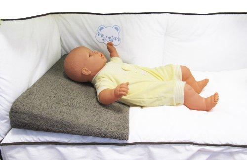 Plan incliné en tissu éponge Chocolat déhoussable pour lit bébé