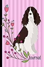 Journal: Anxiety Journal and Coloring Book 6x9 90 Pages Positive Affirmations Mandala Coloring Book English Springer Spaniel Dog Pink Cover