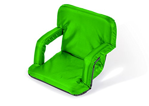 Portable Multiuse Adjustable Recliner Stadium Seat by Trademark Innovations (Lime)