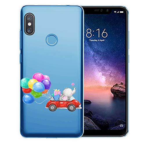 vibtier Funda Compatible con Xiaomi Redmi Note 6 Pro Funda Transparente Suave TPU Silicona Clear Amortiguador de Choque Carcasa Cubierta para Xiaomi Redmi Note 6 Pro Teléfono - Lindo Animal