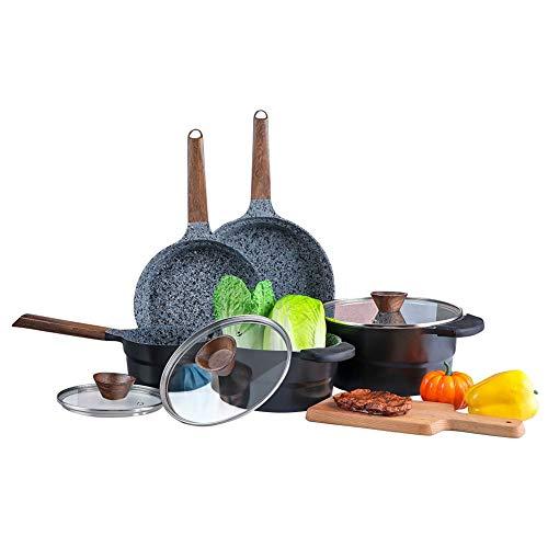 Ultra Nonstick Pots and Pans Set - Granite Stone Coating Dishwasher Safe Kitchen Cookware Sets