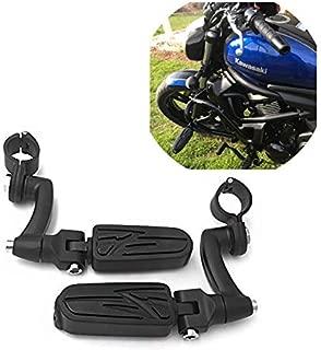 SMT Motorcycle Black Adjustable Highway Peg Mounting Kit Lightning Footrest For Yamaha V-STAR Roadstar Suzuki Boulevard Equipped with 1 inch (1