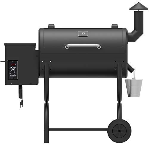 Z GRILLS ZPG-550B 2020 Upgrade Wood Pellet Grill & Smoker 8 in 1 BBQ Grill Auto Temperature Control, 550 sq, 538sq in Black