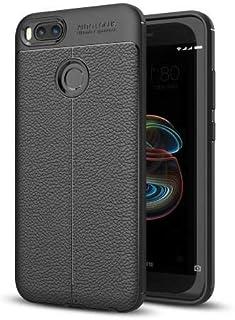 Okteq Skin PU Leather Coated TPU Case for Xiaomi Mi 5X - Black