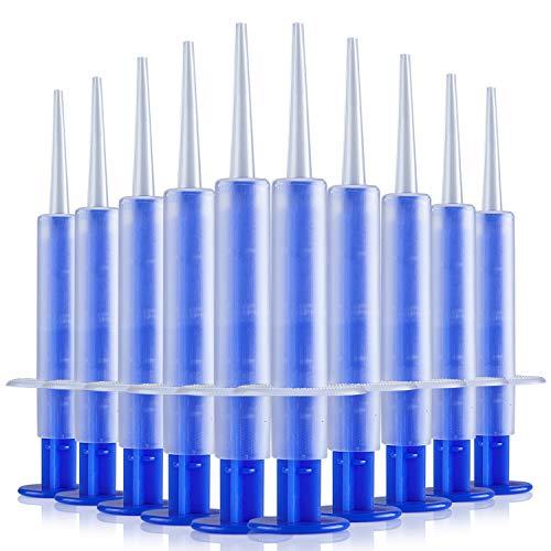 JMU 5ml Dental Impression Syringe with Bendable Tip 50Pcs, Disposable Oral Medicine Dispensing Syringe