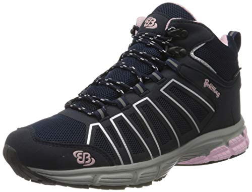Bruetting Womens Montenegro High Cross Country Running Shoe path Shoe, Marine/Rosa, 6 UK