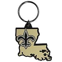 Siskiyou Sports Unisex NFL New Orleans Saints Home State Flexi Key Chain, Black, Standard