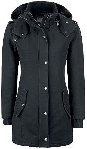 Black Premium by EMP Parka Frauen Winterjacke schwarz XXL 100% Baumwolle Basics