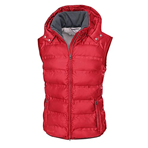 PIKEUR Damen Steppweste Hedy Classic Collection Herbst-Winter 2019/2020, Bright red, 38