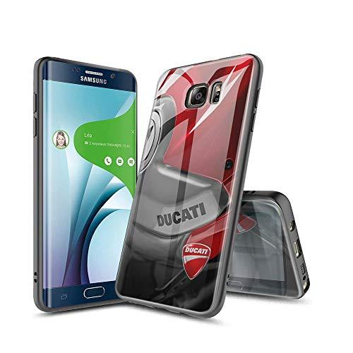 YuAPiNY Compatibile con Samsung Galaxy S6 Edge Cover, Vetro temperato + Struttura in TPU Hybrid Shell Silicone Antiurto, AntiGraffio Case Cover per Samsung Galaxy S6 Edge YuC 007