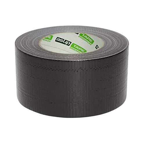 ASUP TAPE PREMIUM - 72 mm x 50 m - Gewebeklebeband | Reparaturband | Panzerband | schwarz | für Innen- und Außenanwendung | für glatte und raue Oberflächen | von Hand reißbar | feuchtigkeitsbeständig