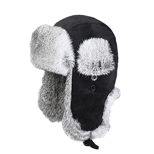 DongBao Unisexo Gorro de Aviador Sombrero de Trampero con Orejeras Sombrero de esqu de Caza