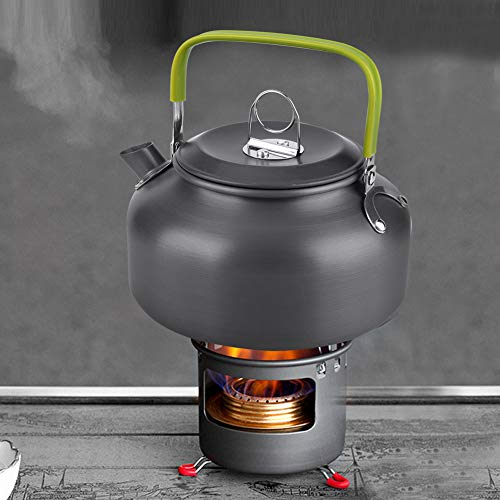 FEBT Outdoor Water Kettle, Corrosion Resistance Picnic Teapot, Hiking for Camping Picnic Home