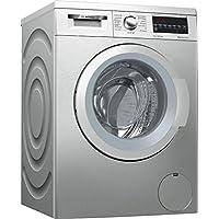 Bosch Serie 6 WUQ2448XES - Lavadora (Independiente, Carga frontal, Acero inoxidable, Giratorio, Tocar, Izquierda, LED)