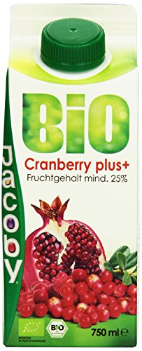 Jacoby Bio Cranberry plus, 8er Pack (8 x 750 ml)