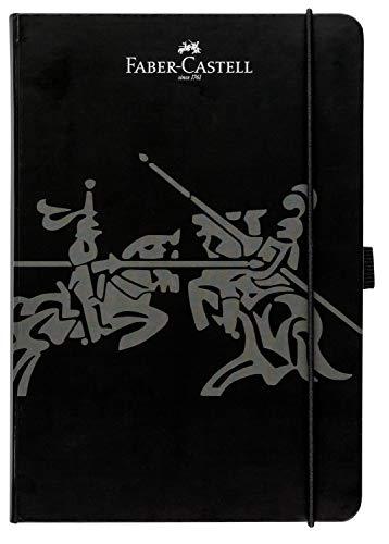 Faber-Castell 20502 - Notizbuch, 145 x 210 mm, FSC-Mix, kariert, Schwarz, 1 Stück