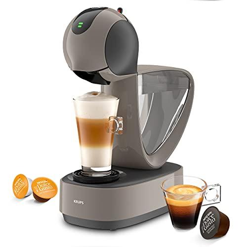 Krups KP270A Infinissima Touch - Macchina per bevande automatiche con capsula Nescafé Dolce Gusto, sistema ad alta pressione fino a 15 bar, touch screen, modalità Eco dopo 1 minuto, colore: tortora