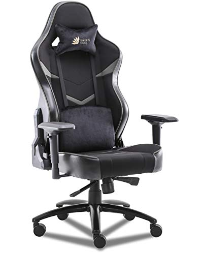 Green Soul Monster Ultimate (S) Multi-Functional Ergonomic Gaming Chair (GS-734US) (Black & Grey) (Large Size)