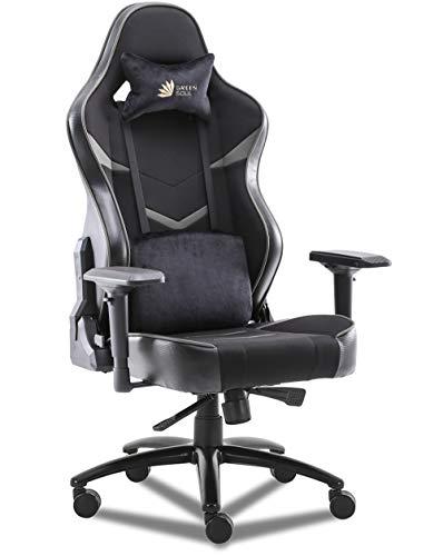 Green Soul Monster Ultimate (S) Multi-Functional Ergonomic Gaming Chair (GS-734US) (Black & Grey)